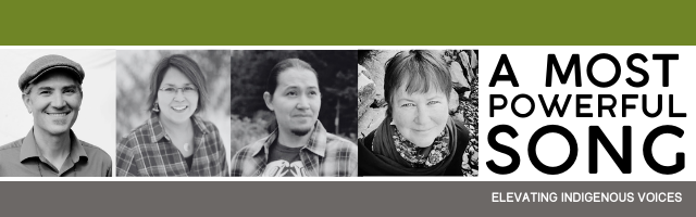 Event header with headshot photos of 4 participating writers